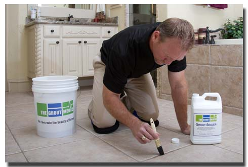 Tile And Grout Sealing The PIttsburgh Grout Medic - Commercial grout sealer